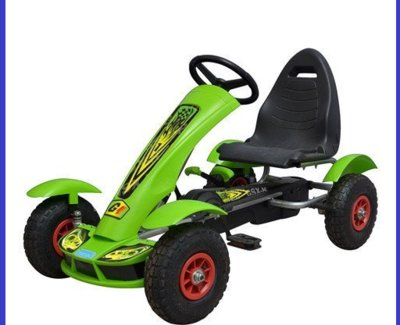 Детский педальный карт надувные колеса Bambi M 1450-5 зеленый