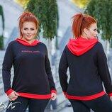 женская спортивная кофта батник с капюшоном женские спортивные кофты двунитка большие реглан свитшот