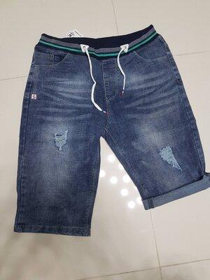 Стильные мужские джинсовые шорты, бриджи с подворотом, 28, 29, 30, 31, 32, 33 рр