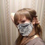 Бархатная маска на лицо
