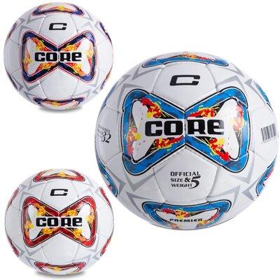 Мяч футбольный 5 Core Premier CR-046 размер 5 PU, сшит вручную