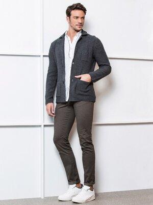 Мужской пиджак серый LC Waikiki / Лс Вайкики с 3-мя карманами