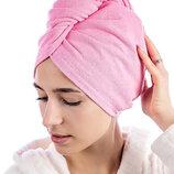 Полотенце-Чалма тюрбан махровое для сушки волос