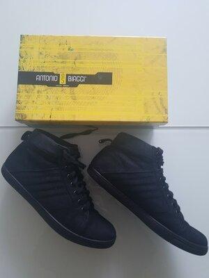Кеды ботинки Antonio Biaggi оригинал Италия натуральный нубук мех Новая коллекция Будьте стильными