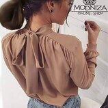 Женская стильная блуза с бантом Sonata