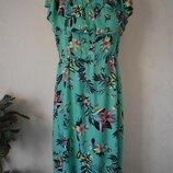 Красивое натуральное платье с принтом большого размера George