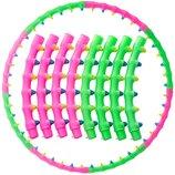 Обруч массажный хула хуп Hula Hoop Double Grace Magnetic 6005 диаметр 100см, 8 секций с магнитами