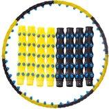 Обруч массажный хула хуп Hula Hoop Double Grace Magnetic 6001 диаметр 101см, 8 секций с магнитами