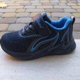 26-31р Детские текстильные кроссовки кросівки Сlibee клиби мальчику синие с голубым
