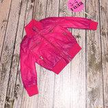 Кожаная куртка-хамелеон Kids star для девочки 3-4 года, 98-104 см