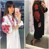 Шикарное платье бохо макси вышиванка в стиле вита кин/вишиванка