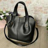 Стильная Женская Сумочка сумка из эко-кожи. Черный