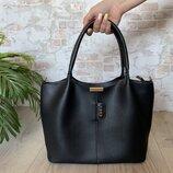 Стильная Женская сумка ZARA из экокожи . Черная