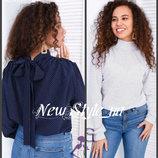 Блузка жіноча, софт. 42-48, Блузка в горошок. Блузка женская, Жіноча блуза. Блузка в горошек