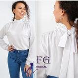 Блузка жіноча, софт. 42-48, Блузка з бантом. Блузка женская, Жіноча блуза. Блузка молодежная