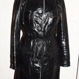 дубленка черная кожаная лаковая Ece Leather Италия S/M
