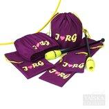 Набор чехлов для гимнастических предметов «Сливовый. I RG»