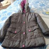 Моя доставка Куртка на холодную осень на флисе на 4-5 лет