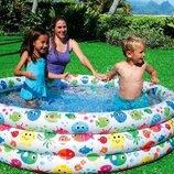 Детский надувной бассейн Intex 56440 Рыбки 168 х 38 см