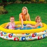 Детский надувной бассейн 58449 Геометрия 168x41 см от 3 лет