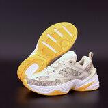 Женские кроссовки Nike M2K Tekno. Beige Yellow.