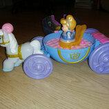 Музыкальная карета Золушки Fisher-Price little people Disney Princess Cind