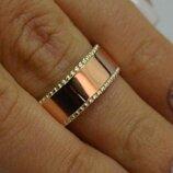 Обручальное кольцо из серебра и золота обр24