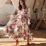 Красивое платье «Императрица» 42 - 46 три расцветки