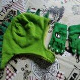 шапка и перчатки динозавр H&M