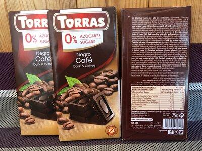 Шоколад Торрас Torras 0% sugar без сахара оригинал