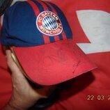 Спортивная фирменная кепочка кепка Adidas Адидас футбольная ф.к Бавария .6-12 лет