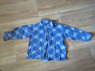 Детская рубашка с начесом на 2 года