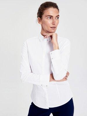 Женская рубашка lc waikiki / лс вайкики белая, на пуговицах, с кристаллами