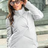 Оригинальная весенняя демисезонная куртка с воротом 2 цвета
