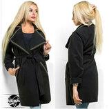 Стильное женское весеннее пальто кашемир 2 цвета