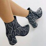 Вт8890617Д Демисезонные женские ботинки кожа под рептилию
