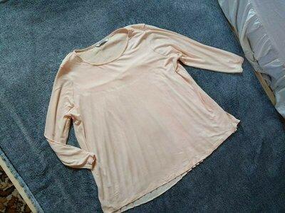 Стильная пудровая блуза кофта M&S, 14 размер.