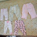 Фирменные штаны штанишки лосины на новорожденного ребенка девочку от рождения и до года