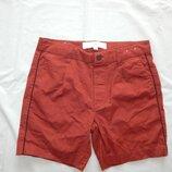 шорты мужские котоновые стильные модные W32 рМ коричневые Slim новые
