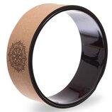 Колесо кольцо для йоги Fit Wheel Yoga 1746 пробковое дерево, 33х14см