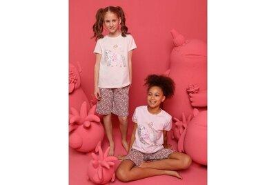 Детская пижама для девочки домашний костюм Футболка и шорты с рисунком Donella Турция