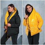 Двох стороння куртка жіноча 48-54 мод .5309