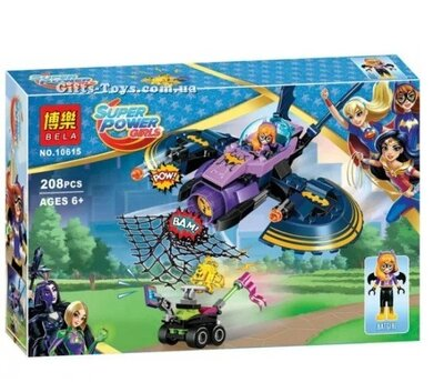 Конструктор Super Power Girls - Погоня на Бетмен самолёте