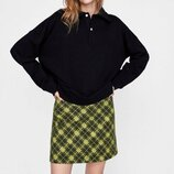 Стильная качественная юбка от Zara рр 12 наш 46