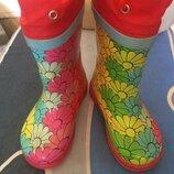 Резиновые сапоги в цветочек,bedr