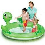 bestway черепаха бассейн с фонтанчиком