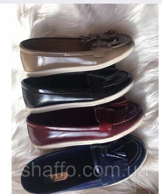Акция Женские стильные лаковые туфли лоферы Турция