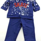 Костюм для новорожденного мальчика 3 6 9 12 и 18 месяцев трикотажный