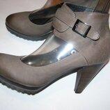 Рр 39 - 25,5 см стильные туфли ботильйоны кожа от ykx & co