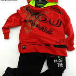 Детский костюм 3 4 5 и 6 лет красный детские костюмы с рисунком Турция